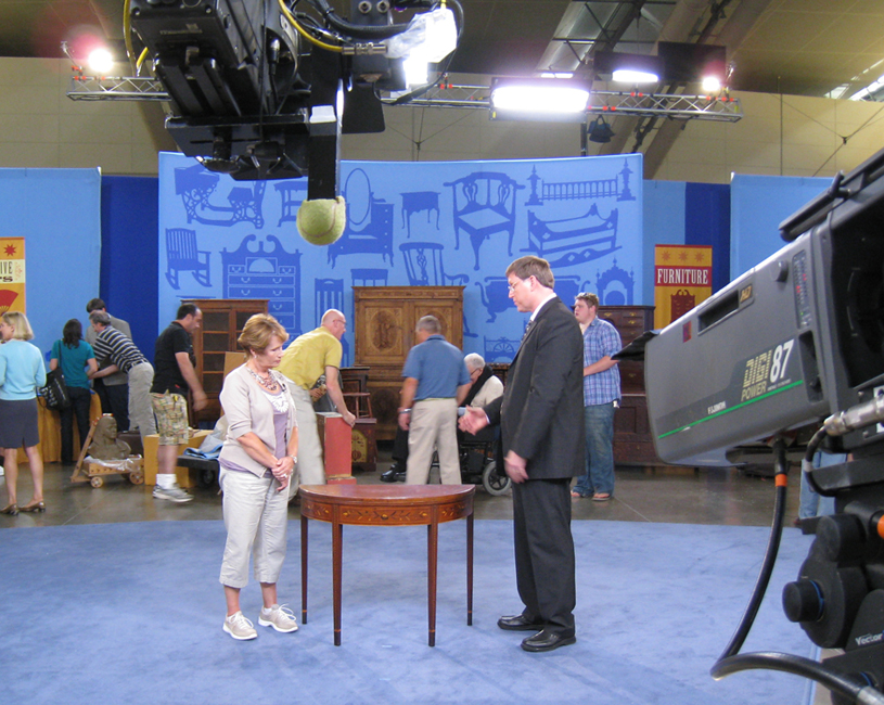 Changing my roll at Antiques Roadshow this season