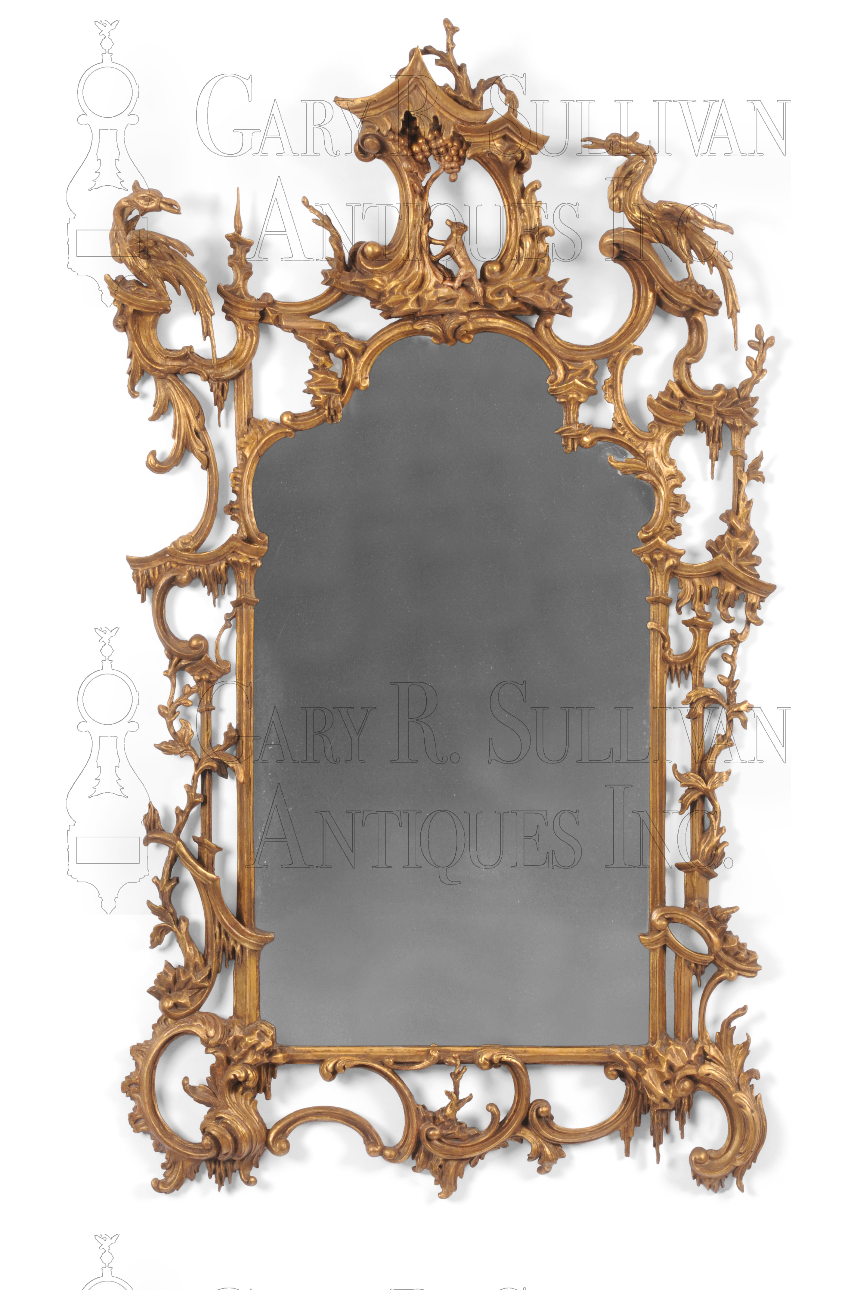 Rococo Giltwood Wall Mirror In The Manner Of Thomas Johnson - Unique-wall-mirrors-from-opulent-items
