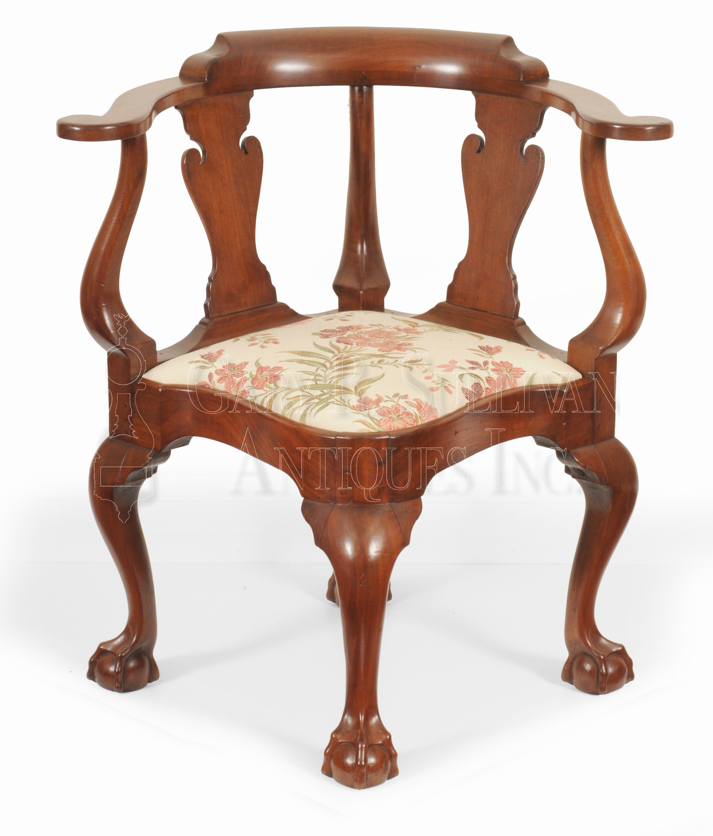 Chippendale Walnut Corner Chair New York Ny