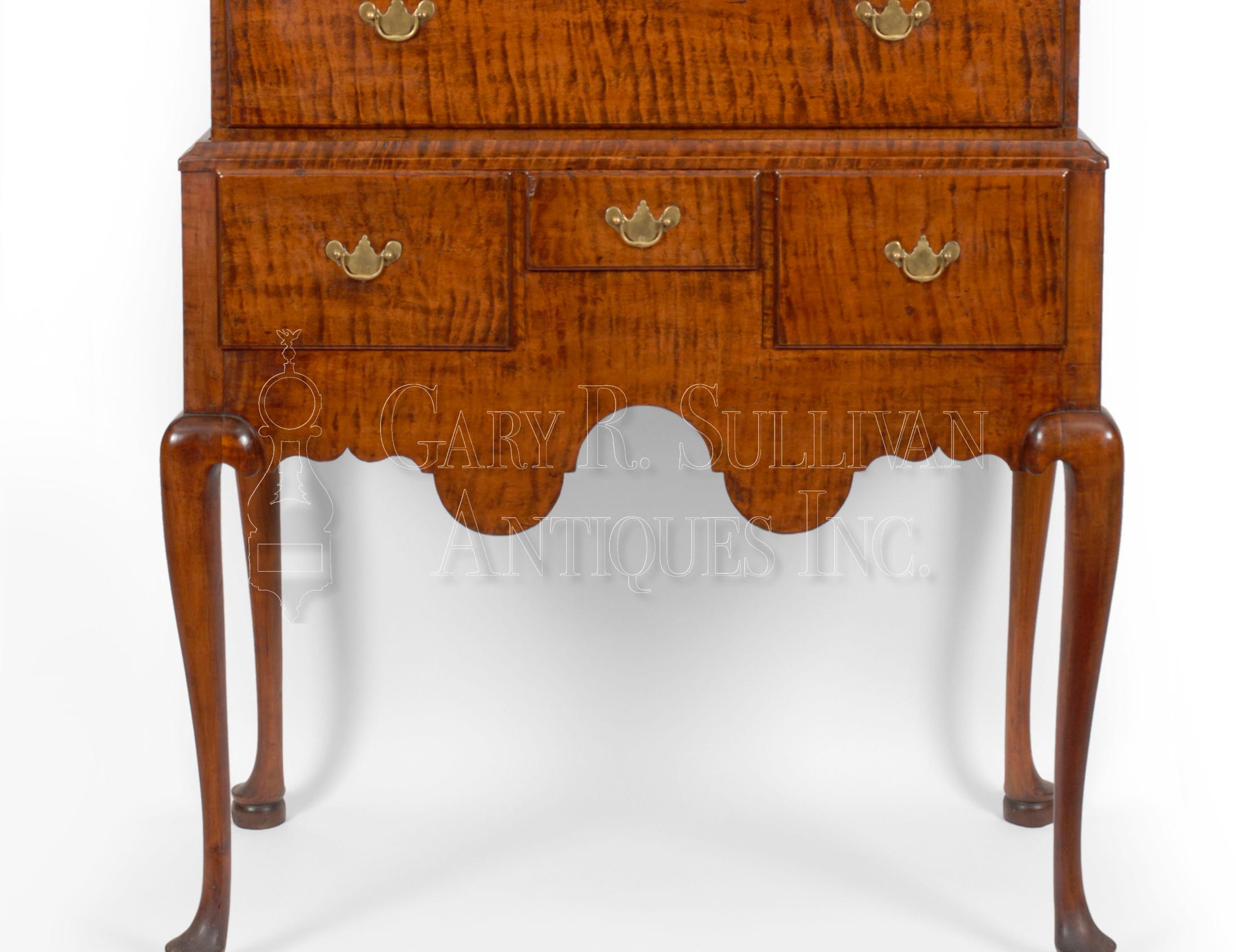 dsc mahogany mid highboy of gibbs drawers drawer century dresser five chest herbert e
