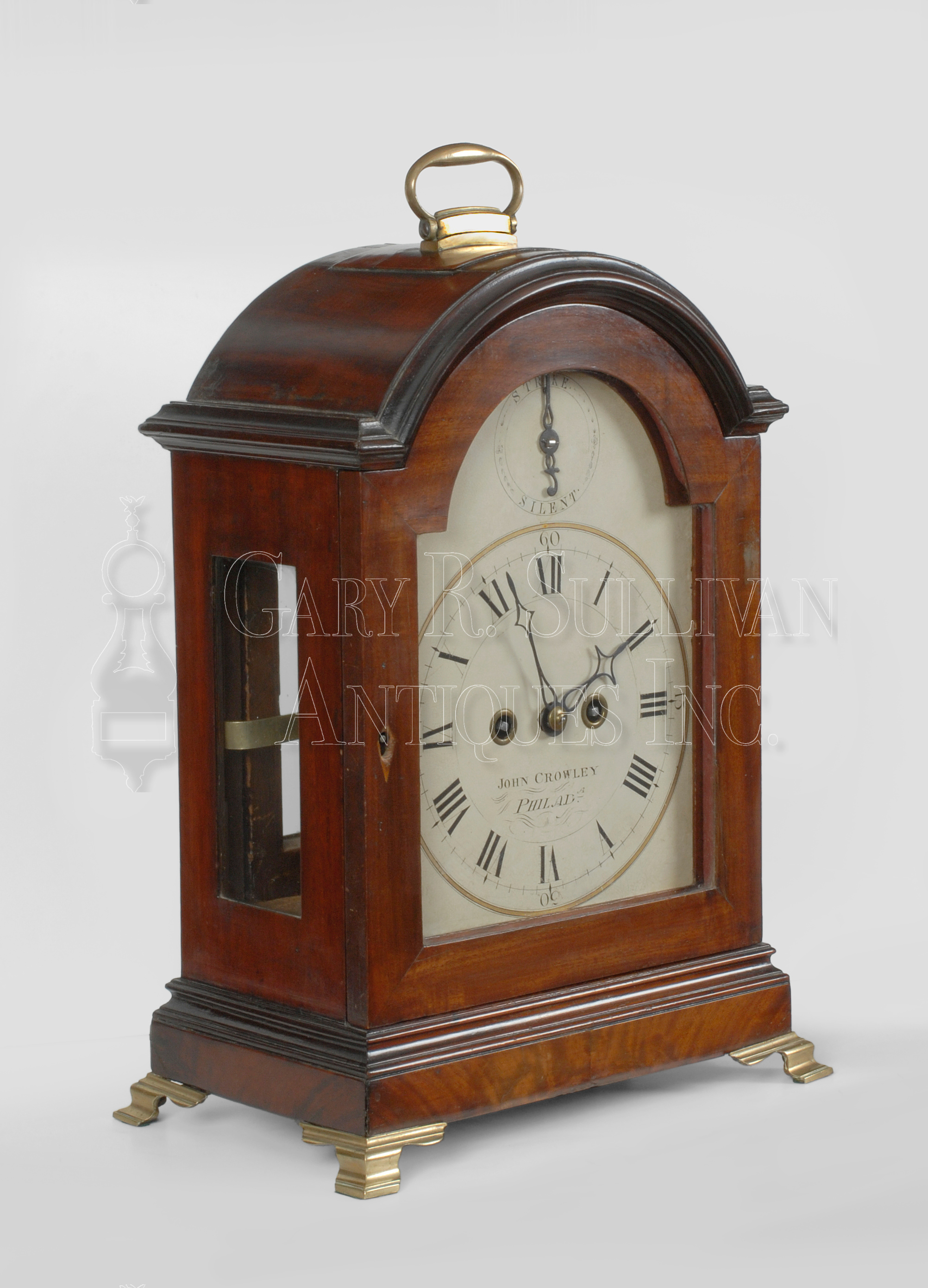 Crowley Philadelphia Antique Bracket Clock