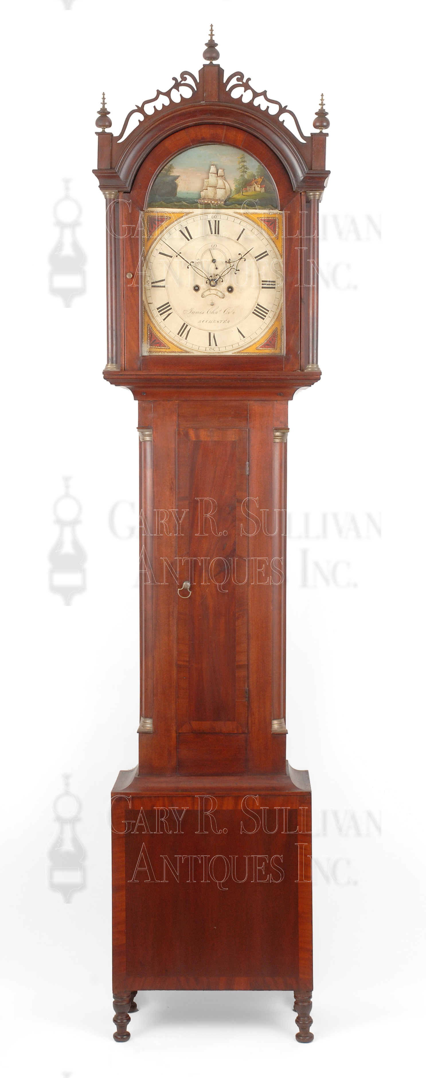 James C Cole Tall Clock Rochester Nh Clocks 10060