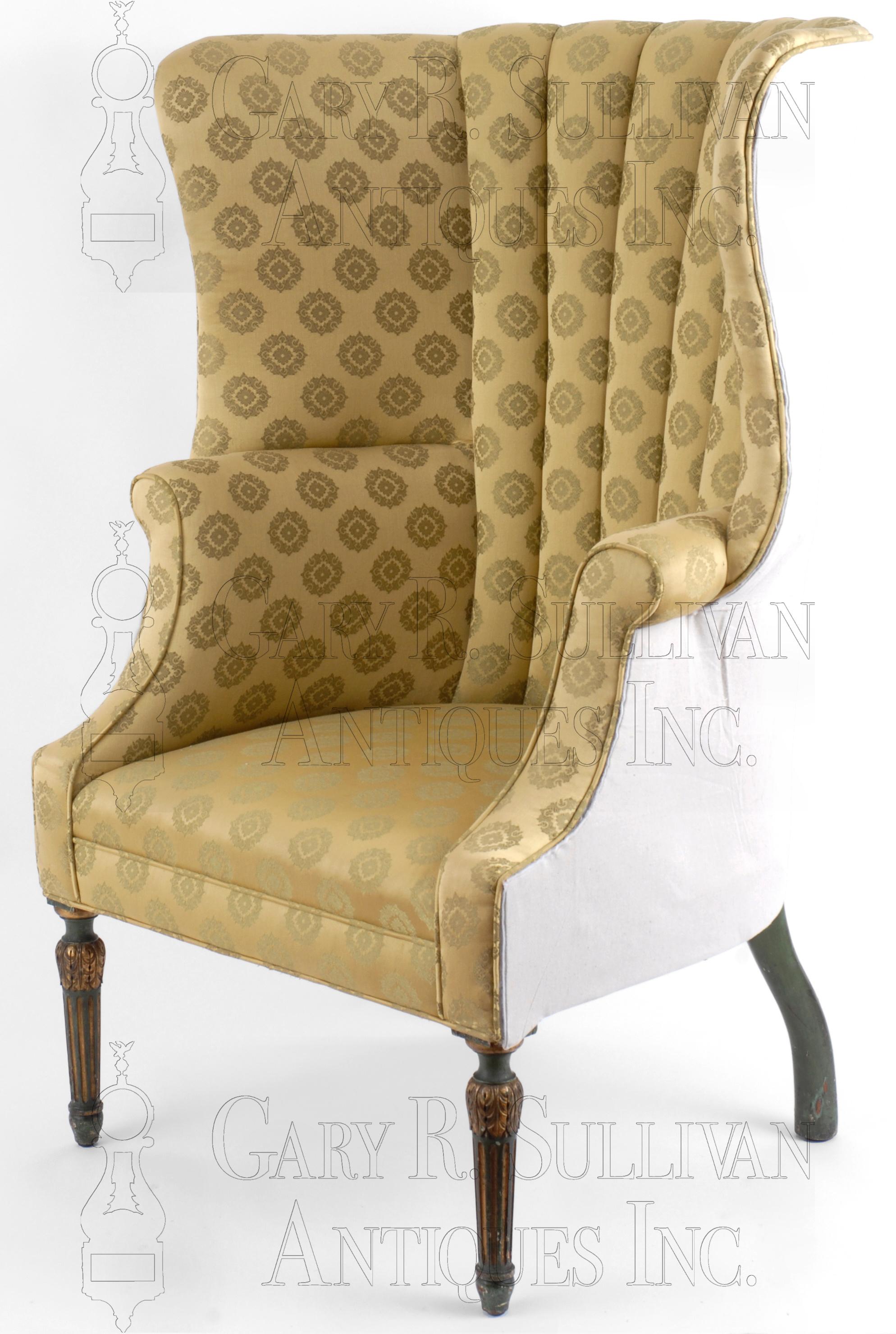 Picture of: Barrel Back Easy Chair Philadelphia Pa Furniture 08045 Gary Sullivan Antiques Antique Clock Dealer Antique Furniture Expert