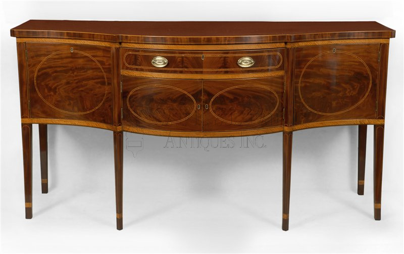 antique Federal inlaid sideboard - Federal Inlaid Sideboard, New York, NY - Furniture 10050 : Gary
