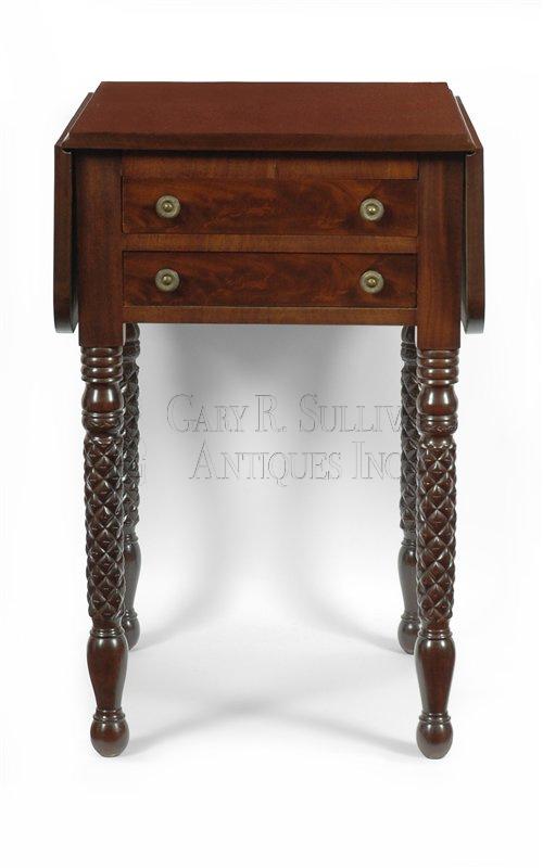 antique Sheraton work table - Sheraton Work Table, New Bedford, Mass - Furniture 10042 : Gary