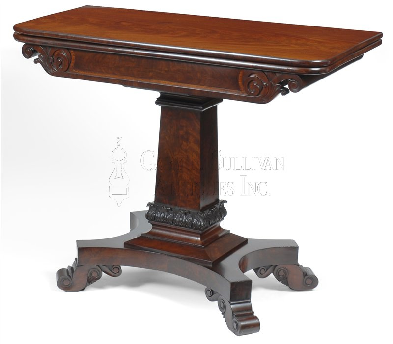 pair of classical antique games tables - Pair Of Classical Games Tables, Boston, Mass - Furniture 007041