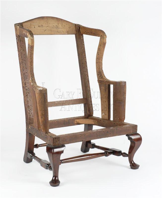 antique queen anne wing chair