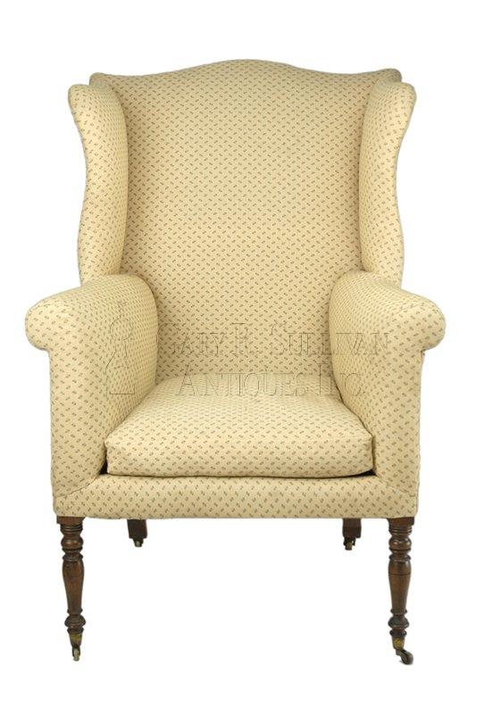 Sheraton antique wing chair - Sheraton Wing Chair, Southern, NH - Clocks 06024 : Gary Sullivan