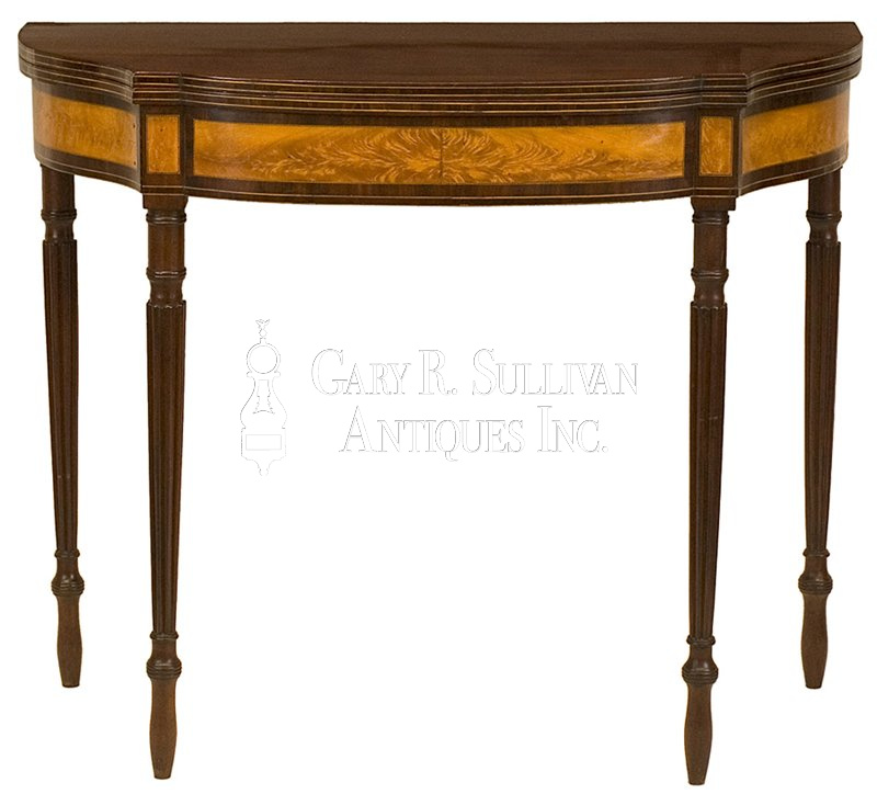 antique Federal card table - Federal Card Table, Salem, Mass - Furniture 06031 : Gary Sullivan