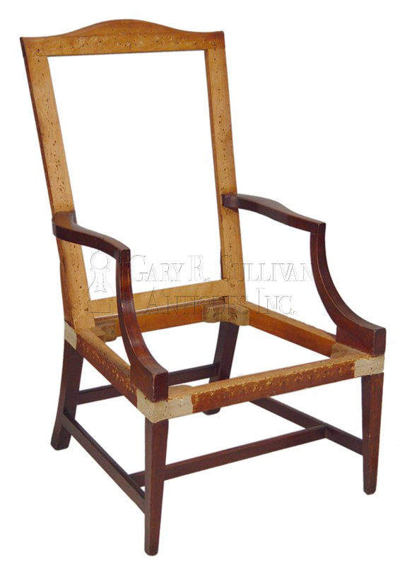antique easy chairs - Pair Of Easy Chairs, Coastal, Mass - Furniture 001012 : Gary