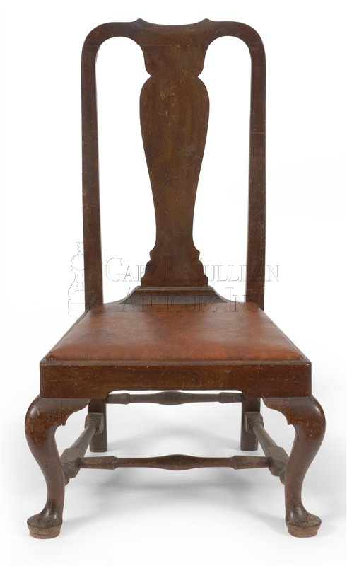 antique Queen Anne slipper chair - Queen Anne Slipper Chair, Boston, Mass - Clocks 010117 : Gary