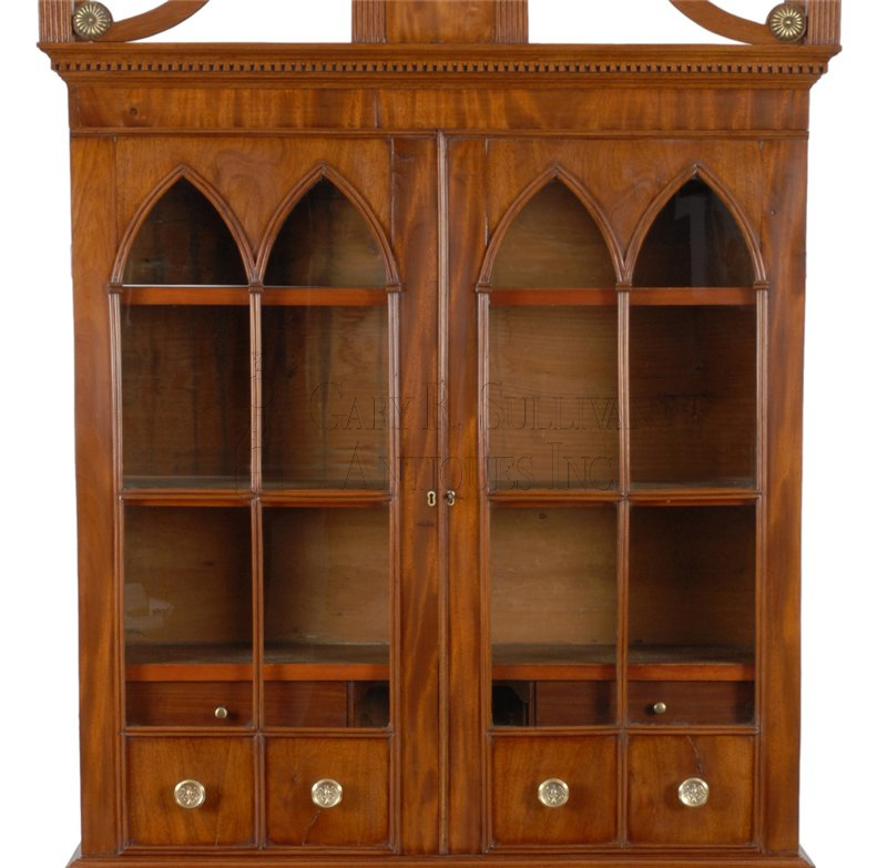 Astonishing Sheraton Desk Bookcase Coastal Maine Clocks 10122 Download Free Architecture Designs Scobabritishbridgeorg