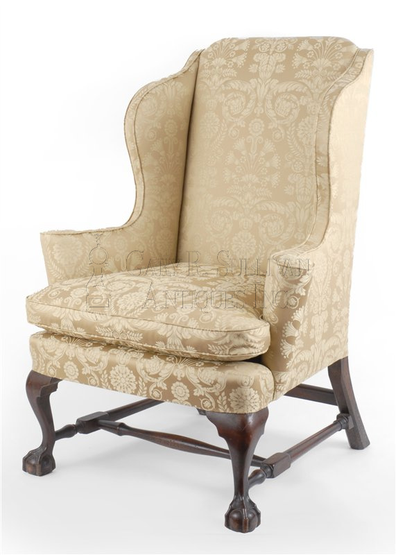 antique Chippendale wing chair - Chippendale Wing Chair, Boston, Mass - Furniture 08056 : Gary