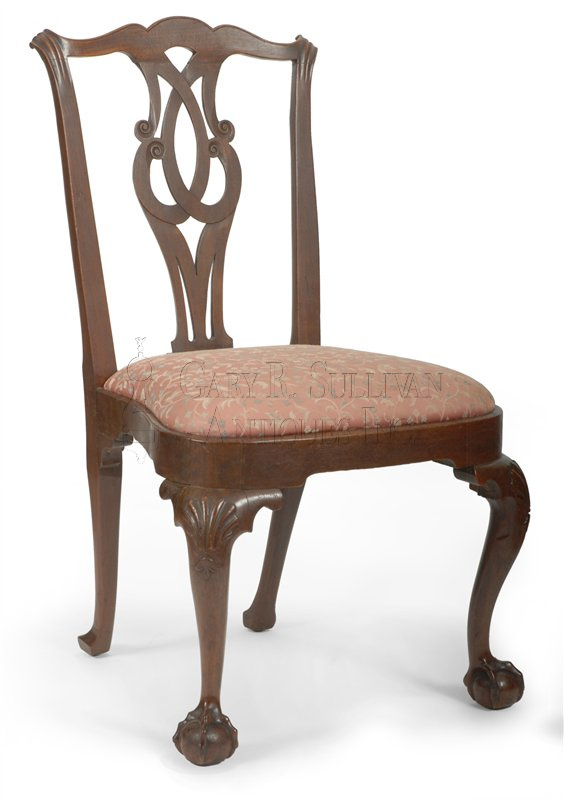 antique Chippendale dining chairs chair A - Pair Of Early Chippendale Dining Chairs, Boston, Mass - Furniture