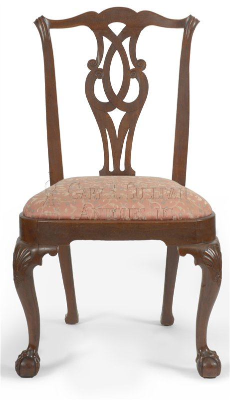 antique Chippendale dining chairs chair B - Pair Of Early Chippendale Dining Chairs, Boston, Mass - Furniture