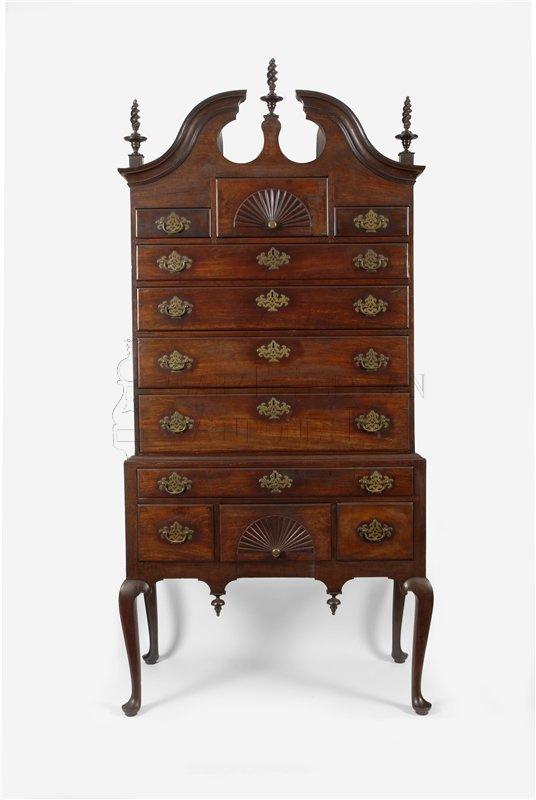 Boston Queen Anne high chest - Queen Anne High Chest (Boston, Massachusetts) - Furniture 12068