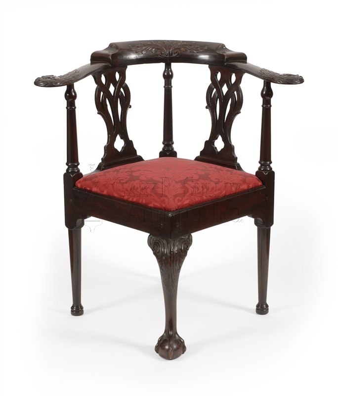 Boston round-about chair · Boston corner chair - Chippendale Corner Chair, (Boston, MA) - Furniture 12050 : Gary