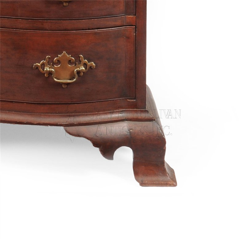 Connecticut chest foot - Chippendale Chapin School Chest (Colchester, CT) - Furniture 14027