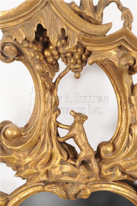 Rococo Giltwood Wall Mirror In The Manner Of Thomas