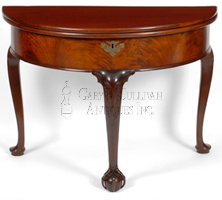 Rare Newport demi-lune games table top furniture lot at CRN Auctions
