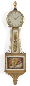 Aaron Willard antique banjo clock